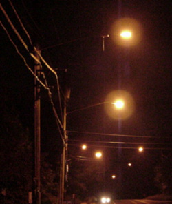 Street lights on South Kings Highway